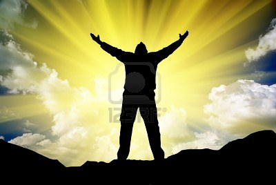 9046025-silhouette-of-man-and-sunshine-on-sky-background