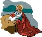Jesus kneeling