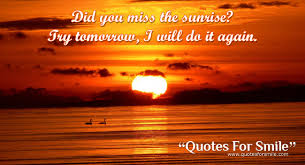 sunrise quote